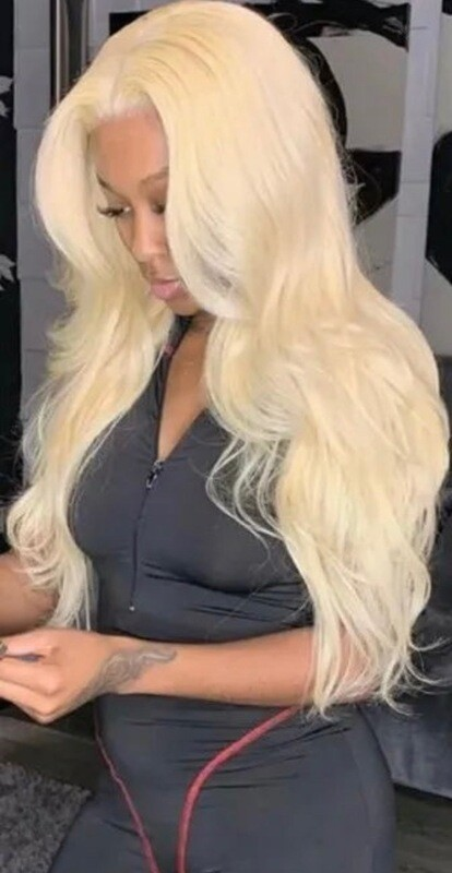 Russian Blonde Bodywave Lace Front Wig