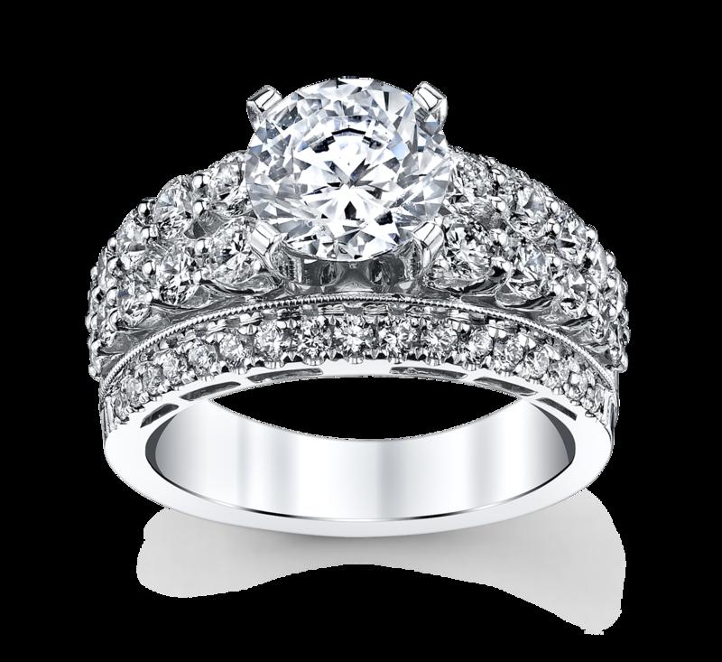 Premier by Divine 14K White Gold Diamond Engagement Ring Setting