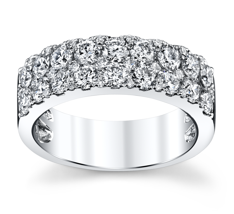 14K White Gold Diamond Wedding Ring 1 1/2 Cttw.