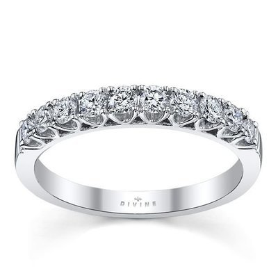 14K White Gold Diamond Wedding Ring 1/2 ct tw