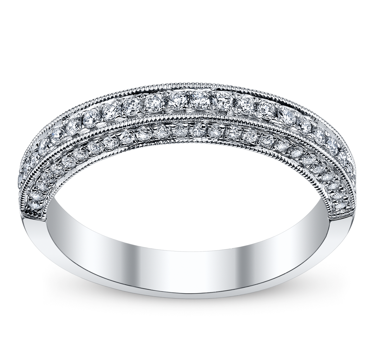 14K White Gold Diamond Wedding Ring 1/3 ct tw