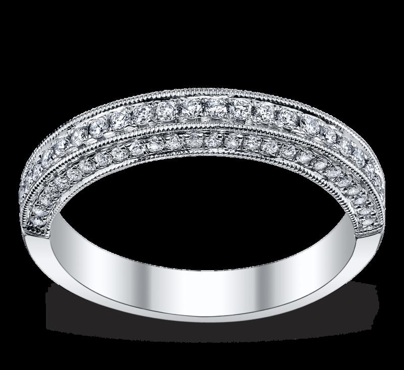 14K White Gold Diamond Wedding Ring 1/3 ct tw