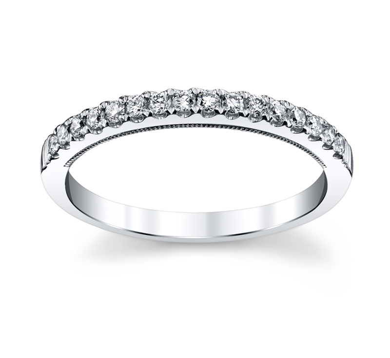 14K White Gold Diamond Wedding Ring 1/4 ct tw