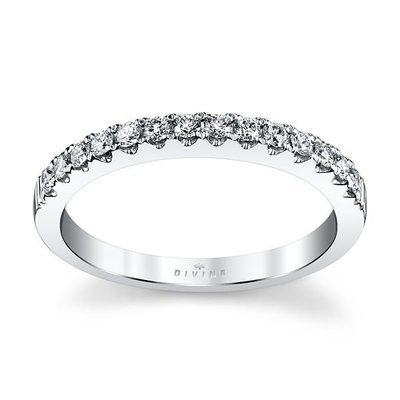 14K White Gold Diamond Wedding Ring 1/4 ct tw