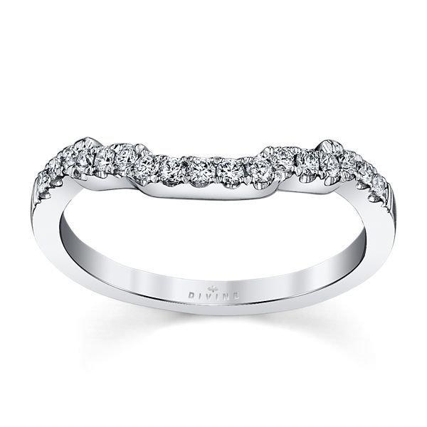 14K White Gold Diamond Wedding Ring 1/5 ct tw
