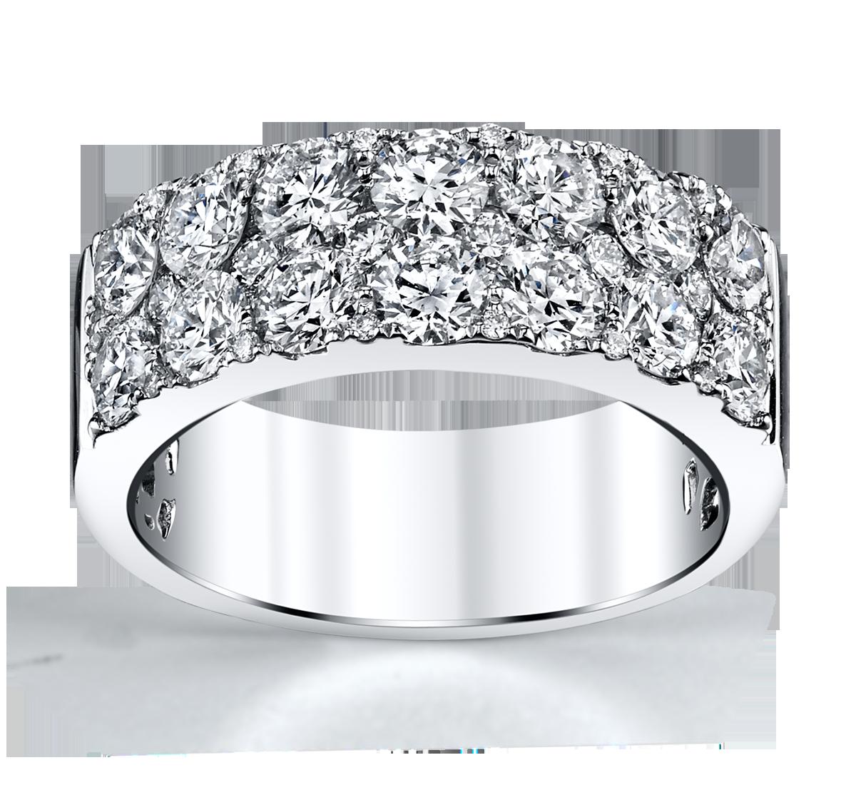 14K White Gold Diamond Wedding Ring 2 1/4 Cttw.