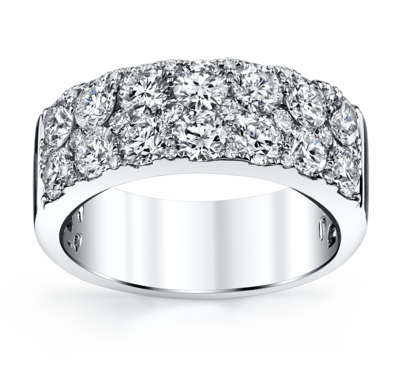 14K White Gold Diamond Wedding Ring 2 1/4 Cttw.