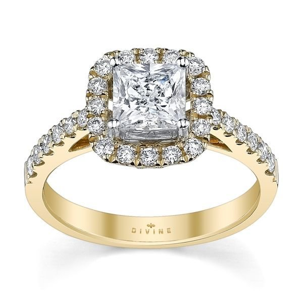 14K Yellow Gold Diamond Wedding Set Setting