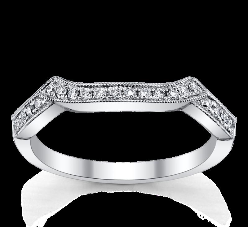 18K White Gold Diamond Wedding Ring 1/6 ct tw