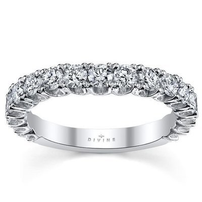 18K White Gold Diamond Wedding Ring 1 ct tw