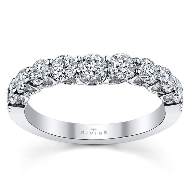 18K White Gold Diamond Wedding Ring 1 ct tw