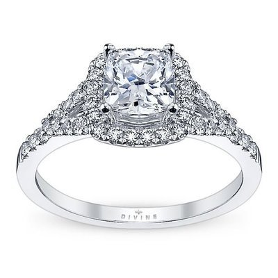 Ladies Platinum Diamond Engagement Ring