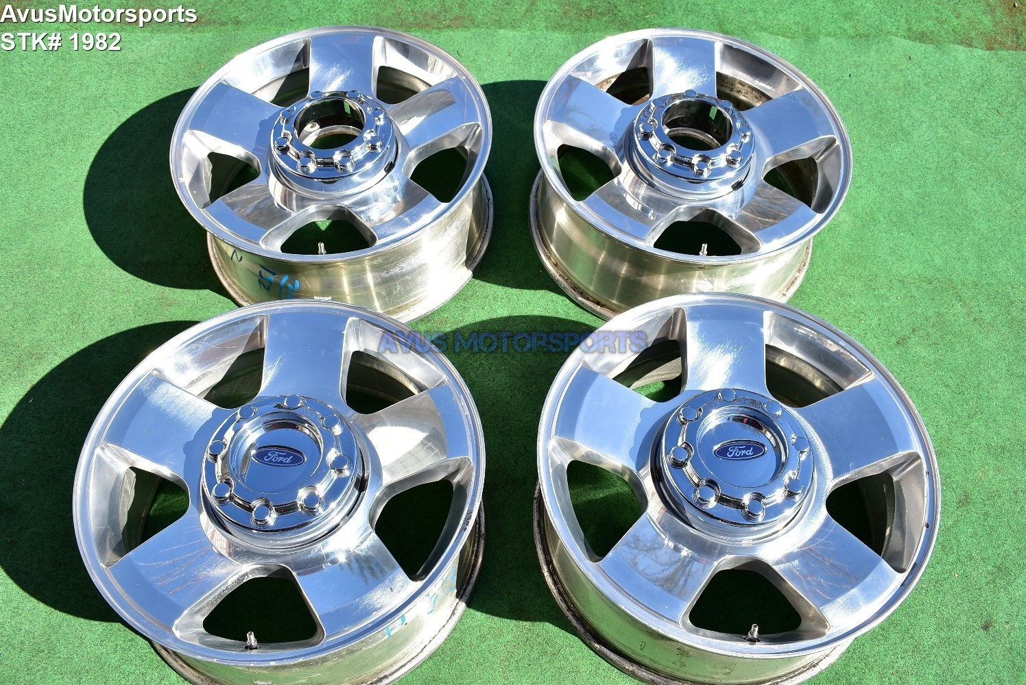 "20"" Ford F250 Super Duty OEM Factory Wheels F350 FX4 2005 2006 Polished"