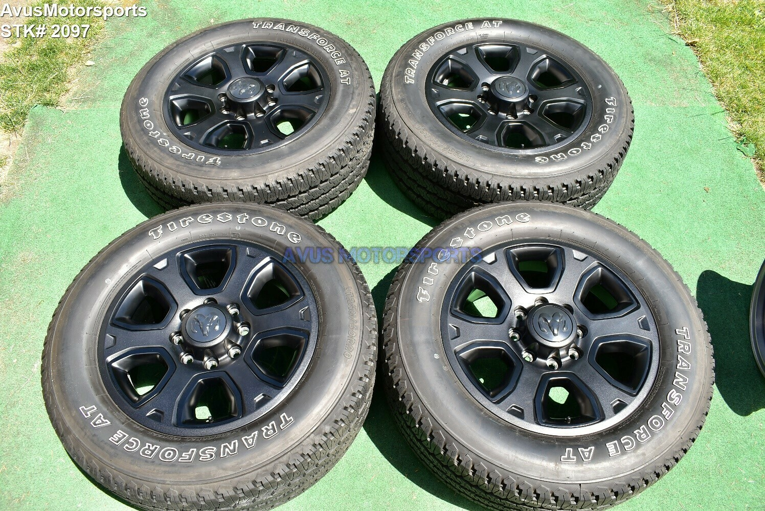 "20"" Dodge Ram Night Edition OEM Factory Black Wheels Tires  2500 3500 2019 2018"
