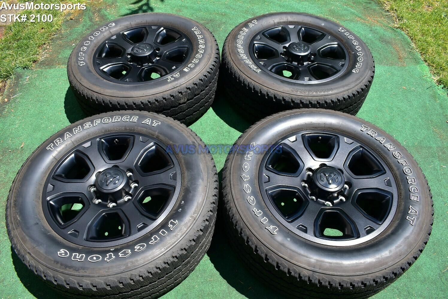 "20"" Dodge Ram Night Edition OEM Factory Black Wheels Tires  2500 3500 2017 2018"