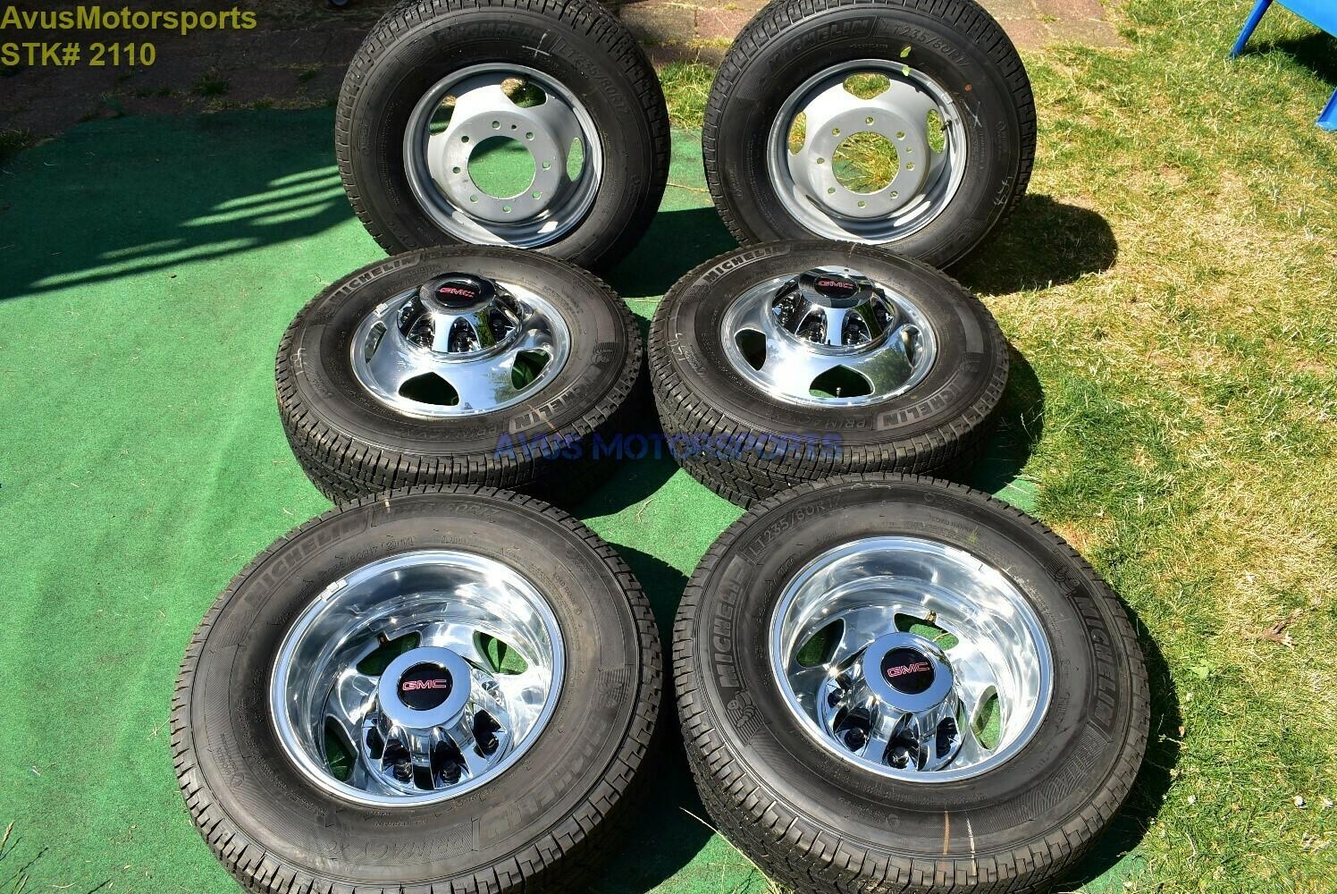 "17"" GMC Sierra Denali 3500 OEM Dually Alloy WHEELS TIRE Chevy Silverado 2019 DRW"