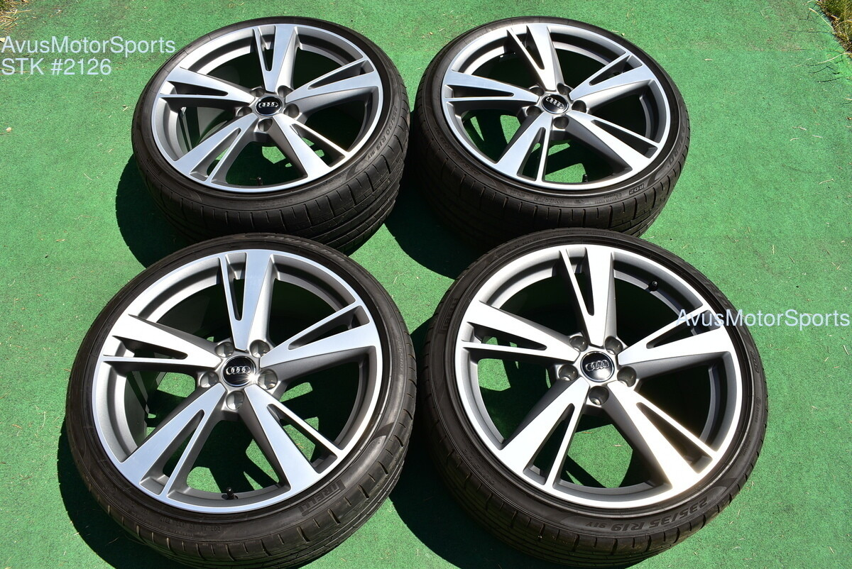 """19"""" Audi RS3 Factory OEM Dynamic Package BBS Wheels & Tires S3 Staggered 2018"""