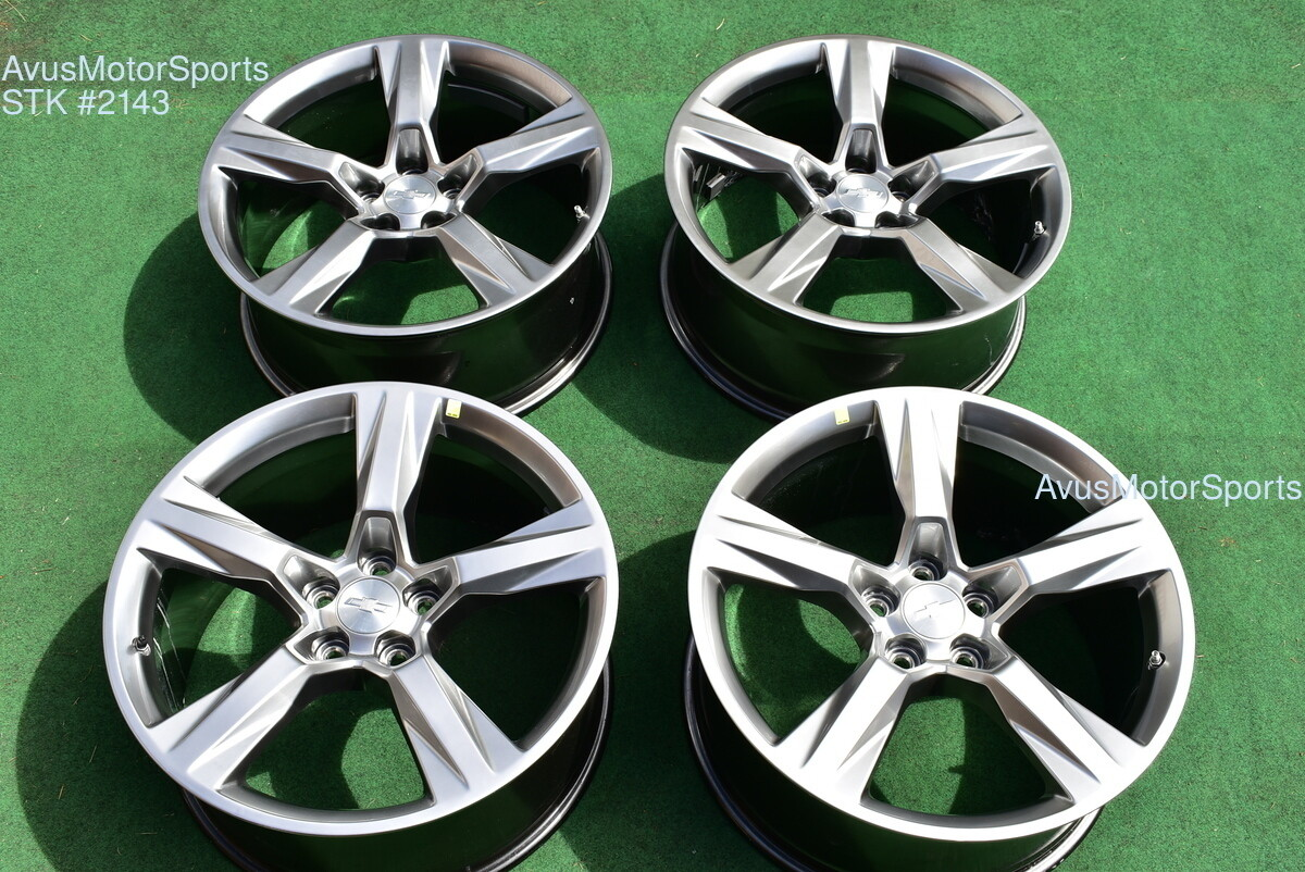 """20"""" CHEVROLET CAMARO SS 20"""" OEM FACTORY STAGGERED WHEELS 2016 2017 2018"""