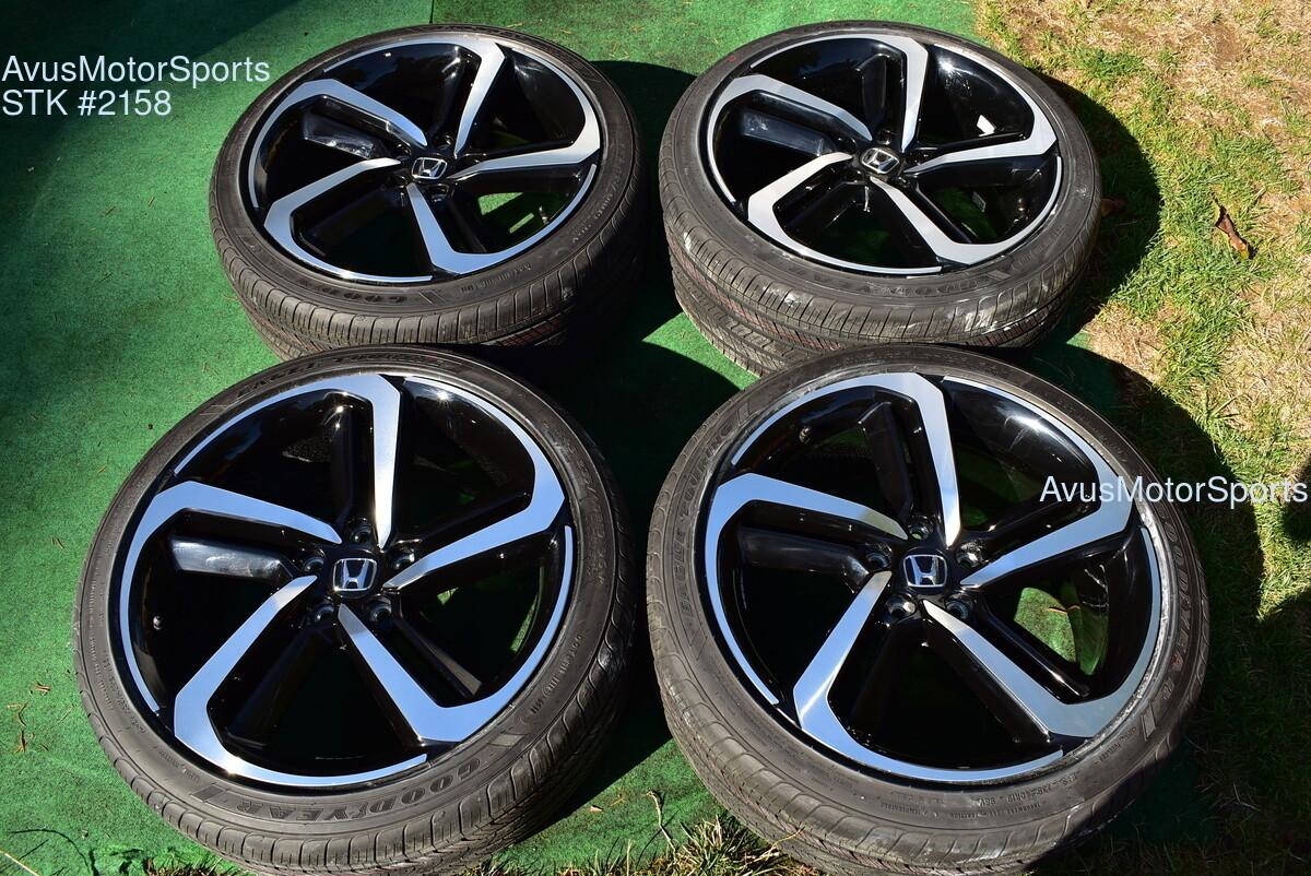 "19"" Honda Accord Sport OEM Factory Wheels and tires 2019 2018"