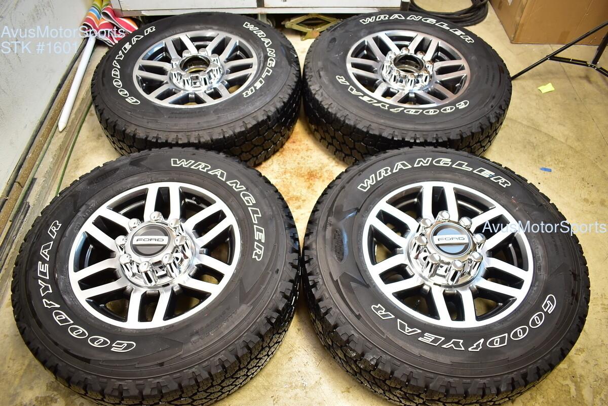 "18"" Ford F350 F250 Super Duty Polished OEM Factory Wheels Lariat 2018 2016 2017"