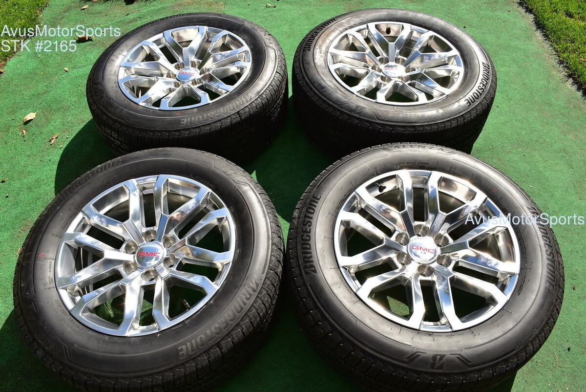 20 Gmc Sierra 1500 Oem Factory Wheels Tires Yukon Tahoe Silverado Chevy 2019 Part 23377019
