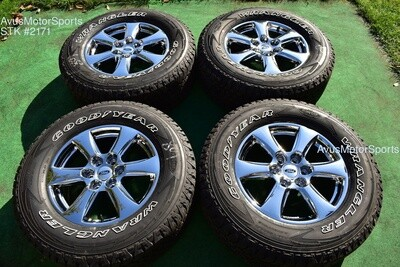 """18"""" Ford F150 OEM Factory Chrome PVD Wheels A/T Tires FX4 Expedition 2018 2019"""