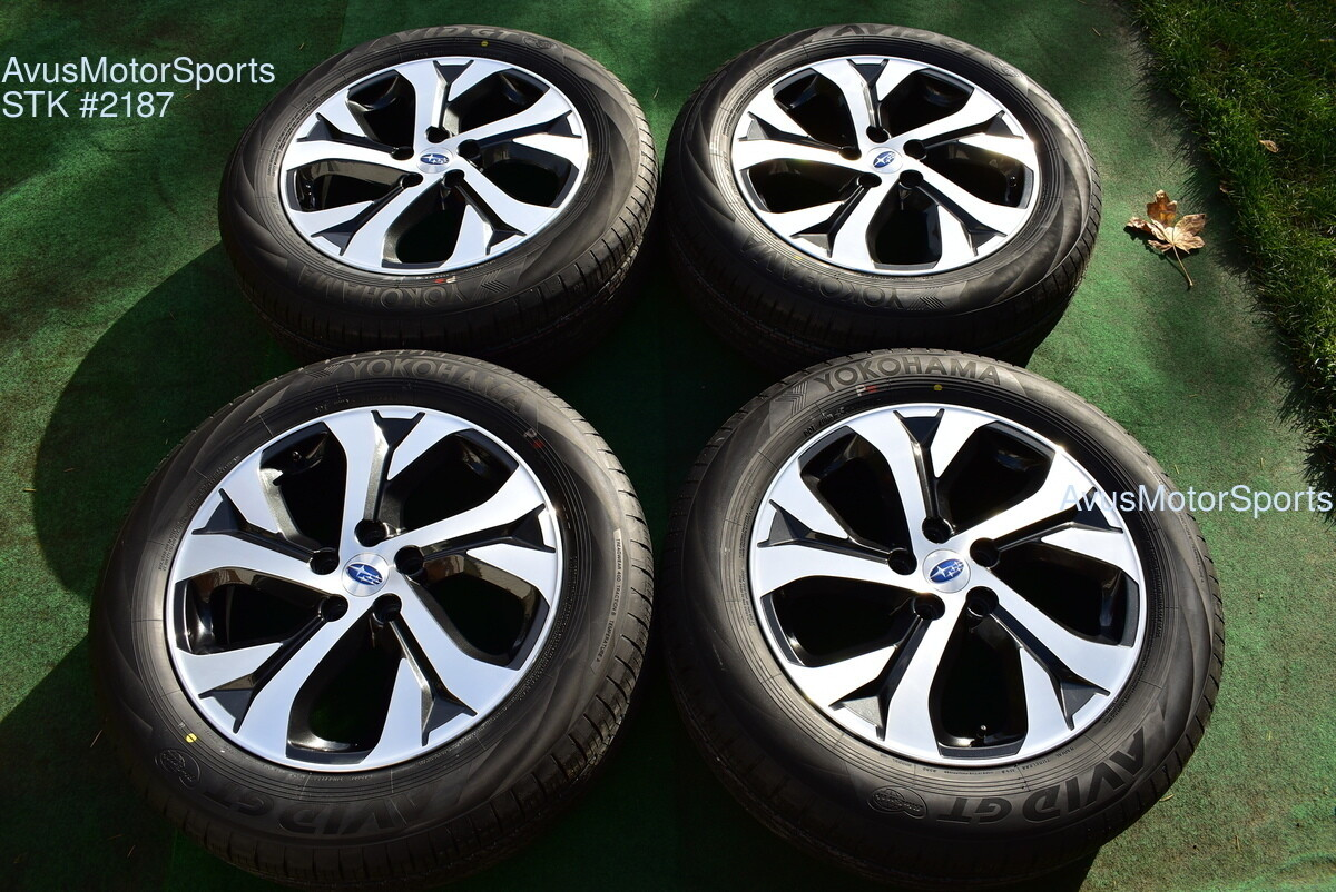 """18"""" Subaru Outback Limited OEM Factory Wheels 225/60R18 Tires 2020"""