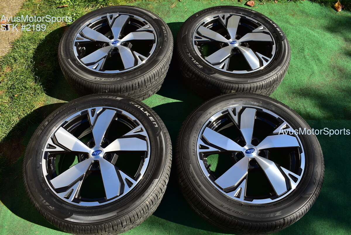 "18"" Subaru Forester OEM Factory Wheels Touring 225/55R18 Tires 2020 5x114"