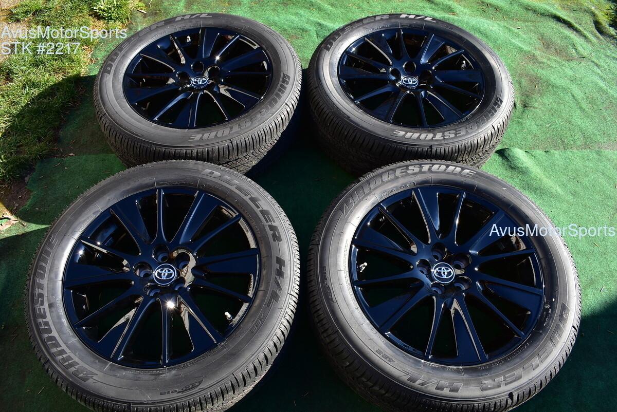 "19"" Toyota Highlander SE Nightshade Black OEM Wheels Lexus RX450 RX350 TPMS 2019"