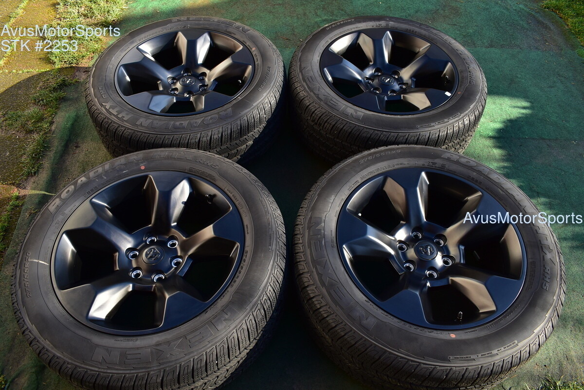"20"" Dodge Ram Laramie OEM Factory Black Wheels 1500 Genuine 2019 tires"