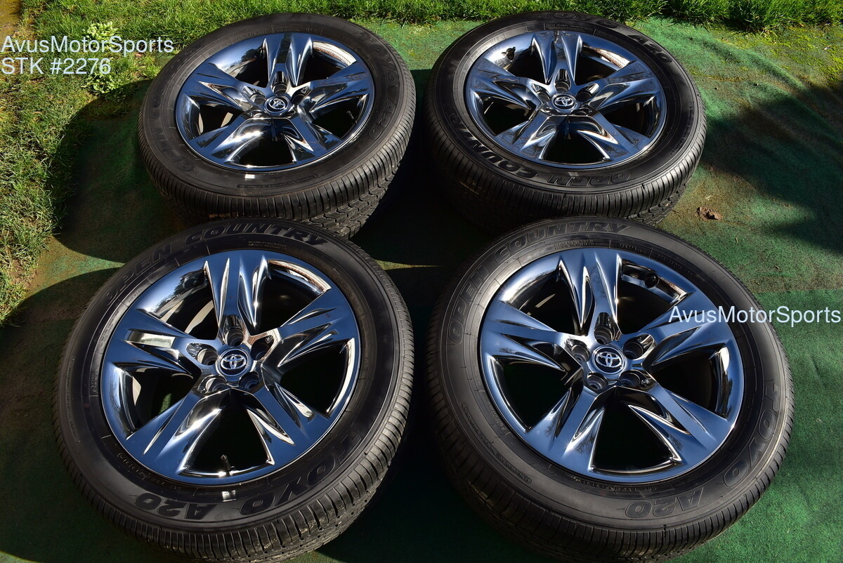 "19"" Toyota Highlander Limited Platinum 2019 OEM Dark Chromtec Wheels Tires"