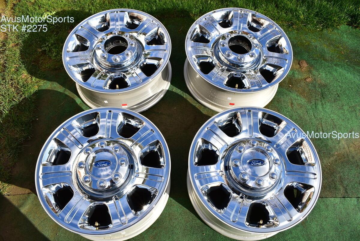 "20"" Ford F250 Super Duty OEM Factory Chrome Clad Wheels F350 Lariat 2014 2015"