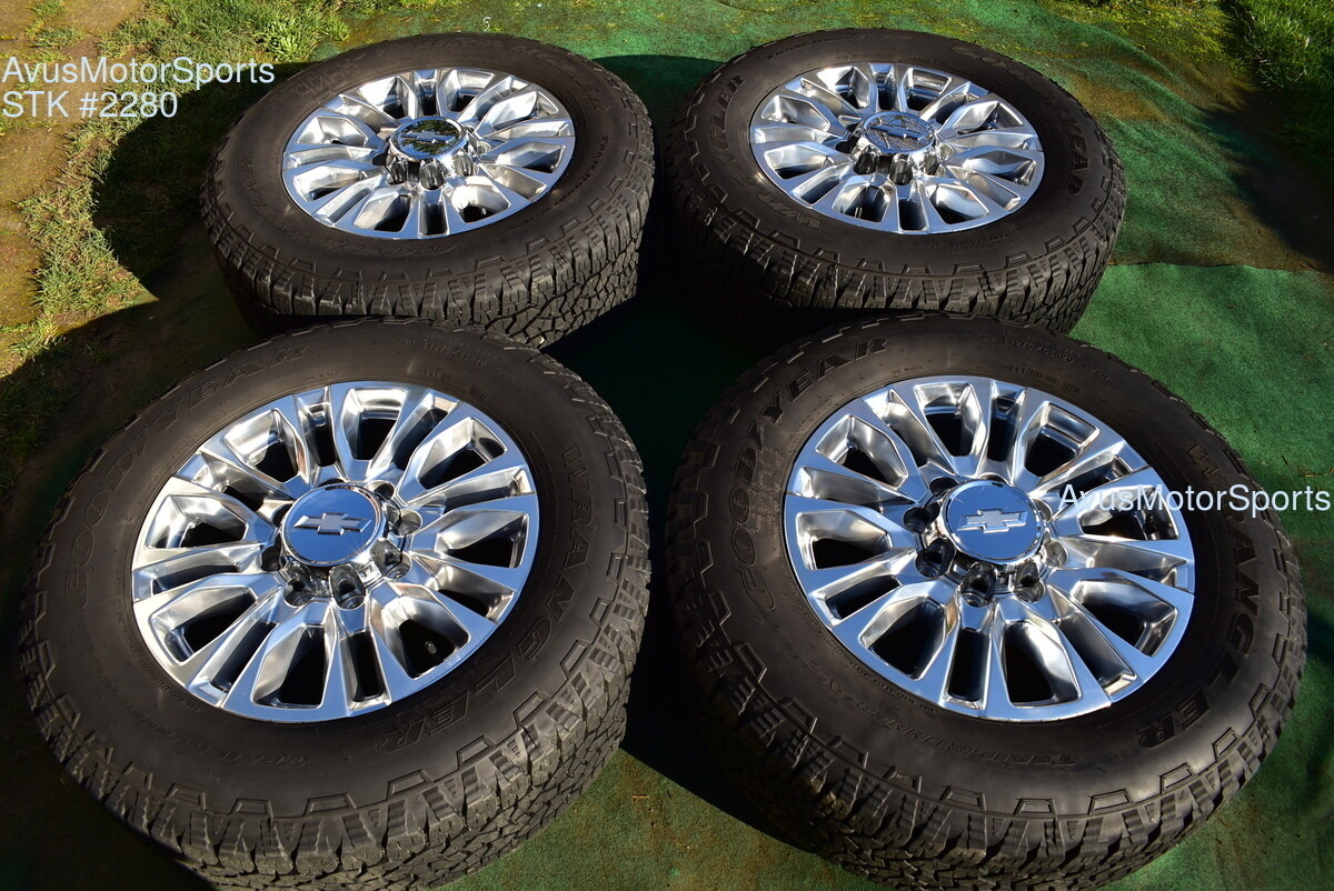 "20"" Chevy Silverado 2500 3500 OEM High Country FACTORY WHEELS GMC Sierra 2020"