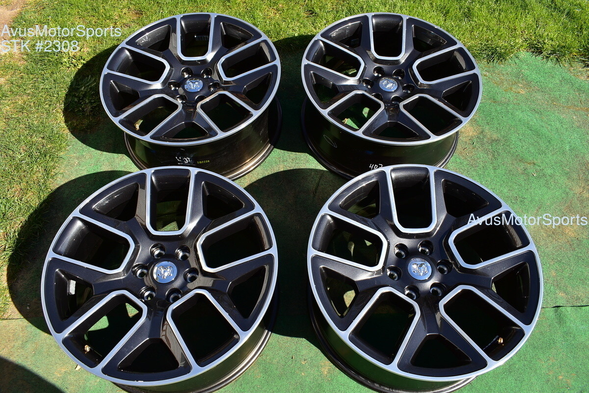 "22"" Dodge Ram 1500 Sport OEM Factory Appearance Pack Wheels 1500 Genuine 2019"