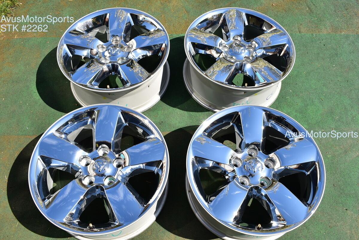 "20"" Dodge Ram 1500 Big Horn OEM Factory Chrome Clad Wheels 2017 2018 2016"