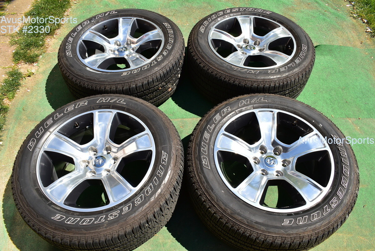 "20"" Dodge Ram OEM Factory Polished Wheels 1500 Genuine 2019 2020 tires part# 5YD55TRMAA"