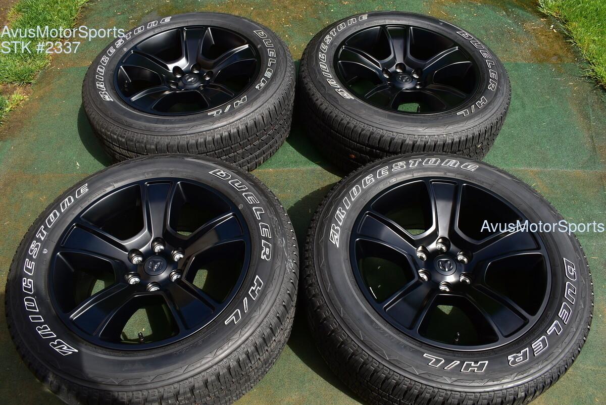 """20"""" Dodge Ram OEM Factory Optional Black Wheels 1500 Genuine 2019 2020 tires"""