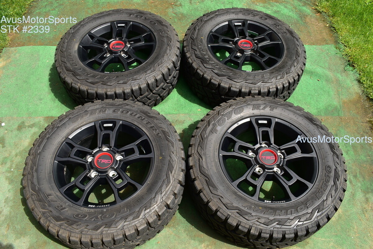 """18"""" Toyota Tundra TRD Pro OEM Factory BBS Forged Wheels Tires Toyo R/T Sequoia"""