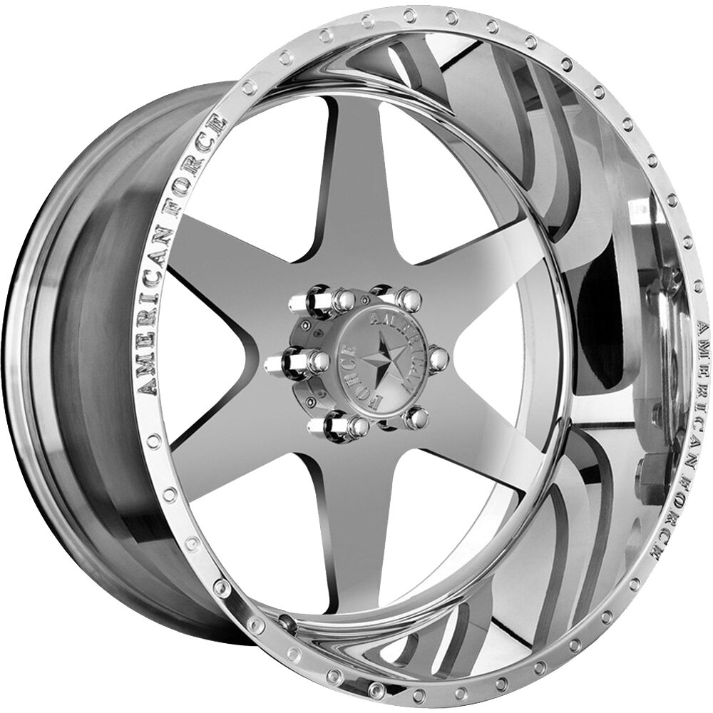 "22x12 American Force Independence SS Forged Wheels 22"" Chevy ram 6x135 -40"