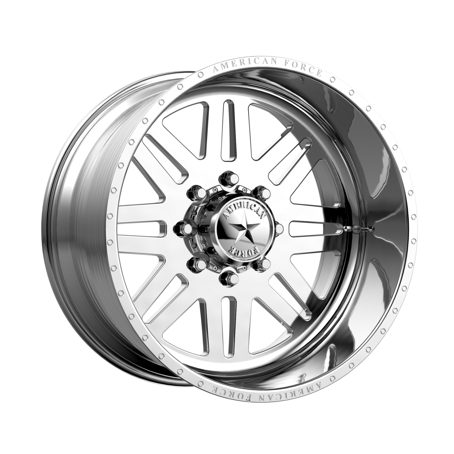 """20x12 American Force Liberty SS Forged Polished 20"""" Wheels 8x6.5 8x165 -40"""
