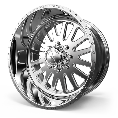 "20x12 American Force F20 Atom SS Forged Polished 20"" Wheels Ford F250 F350 8x170 -40"