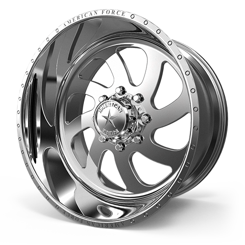 "24x14 American Force 76 Blade SS Forged Polished 24"" Wheels Ford F250 F350 8x170 -73"