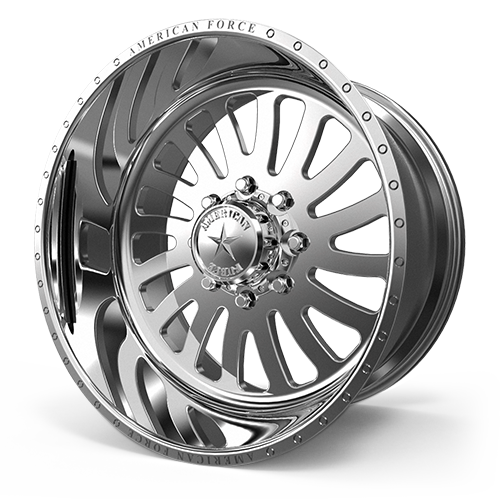 """24x14 American Force Octane SS Forged Polished 24"""" Wheels Ford F250 F350 8x170 -73"""