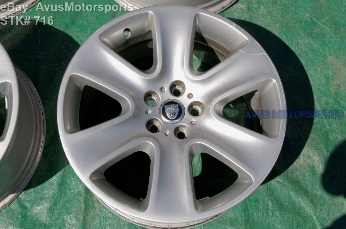 "2009 Jaguar XF Type Cygnus 18"" OEM Factory Wheel 2010 2011 2012 C2Z3371"