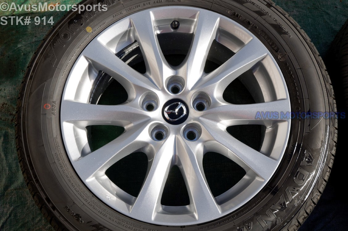 "2016 Mazda 6 i Touring OEM 17"" Factory Wheel Yokohama P225/45R19 tire 9965077570"