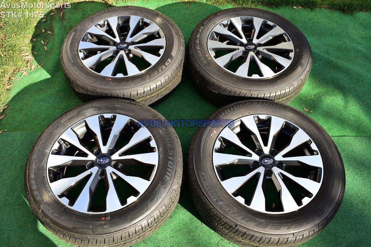 """2017 Subaru Outback Limited OEM Factory 18"""" wheels & Bridgestone Dueler H/P Sport AS 225/60R18"""