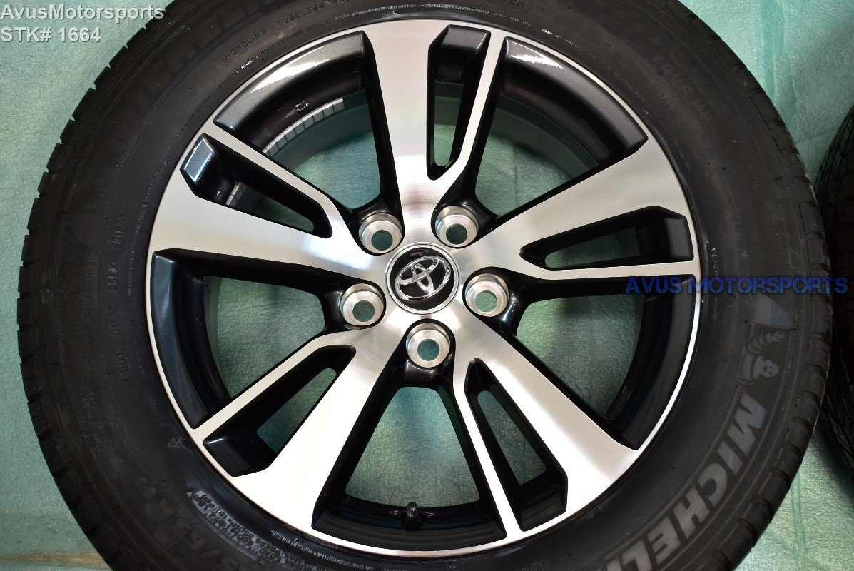 """2018 Toyota Rav4 OEM 17"""" Factory Wheels and Michelin Tires 225/65r17 Tacoma 2wd"""