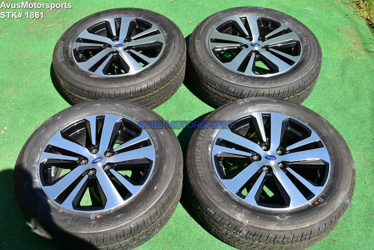 "2018 Subaru Outback Limited 18"" OEM Factory Wheels 225/60R18 Tires 2017 + TPMS"