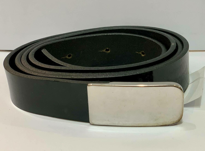 Cinturon acharolado negro