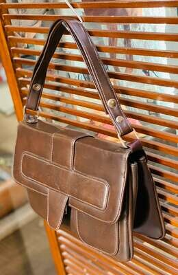 Bolso de hombro vintage marron